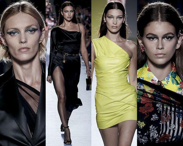 Śmietanka modelingu na wybiegu Versace: Rubik, Gerber, siostry Hadid, Jenner...
