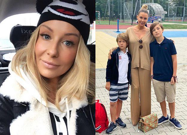 """Małgorzata Rozenek chwali się, że jej synowie wrócili do szkoły. Fani: """"Nie wygladają na zadowolonych"""""""