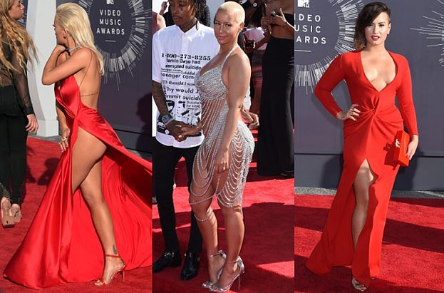 Gala MTV VMA: Biusty, nogi i pośladki... (ZDJĘCIA)