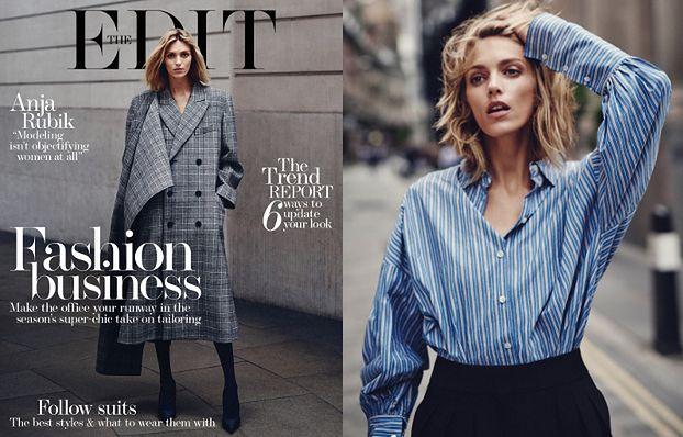 """Anja Rubik w stylizacjach na """"modną bizneswoman"""""""