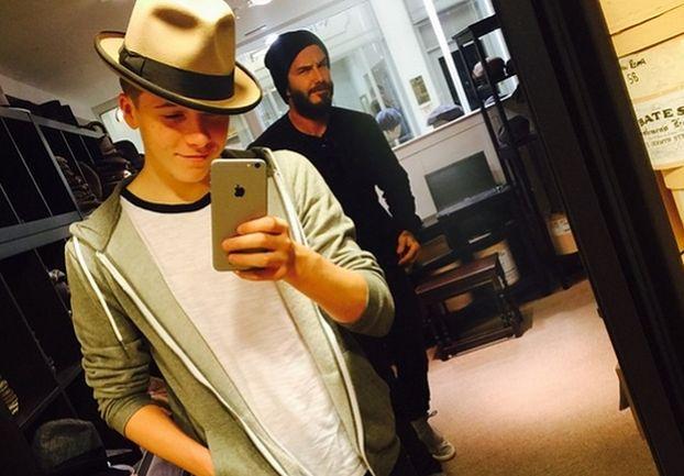 """David Beckham """"zepsuł"""" selfie swojego syna (FOTO)"""