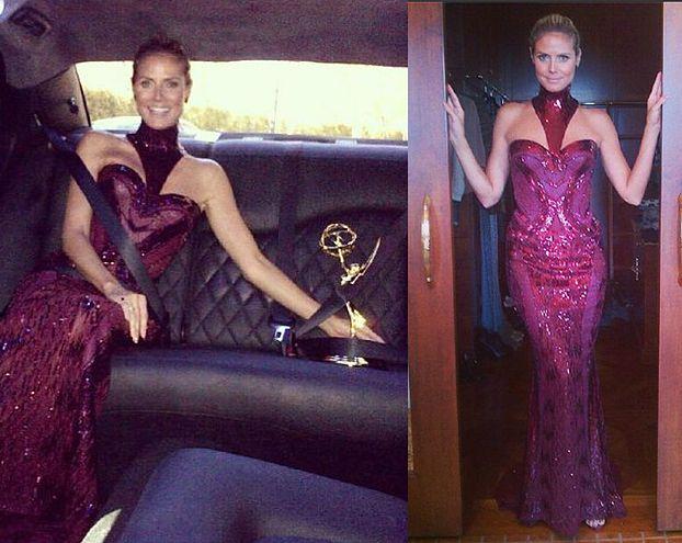 Rozdanie Emmy oczami Heidi Klum (ZDJĘCIA)