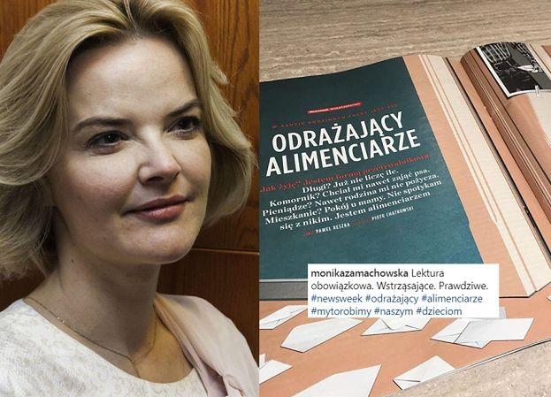 """Zamachowska współczuje alimenciarzom: """"Lektura obowiązkowa. Wstrząsające. Prawdziwe"""""""
