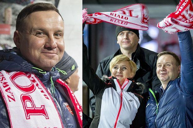 Ziemiec przerwał program w TVP, żeby pokazać... Andrzeja Dudę gratulującego skoczkom