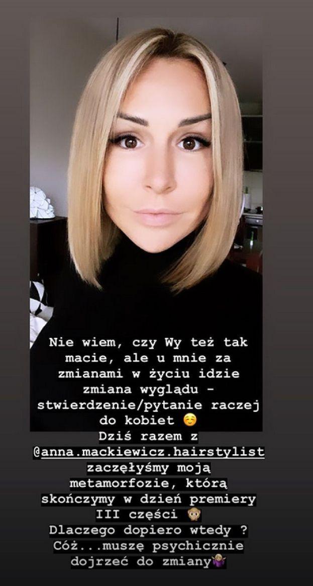 """Blanka Lipińska kompletnie zmieniła fryzurę. """"Zaczęłyśmy metamorfozę"""" (FOTO)"""