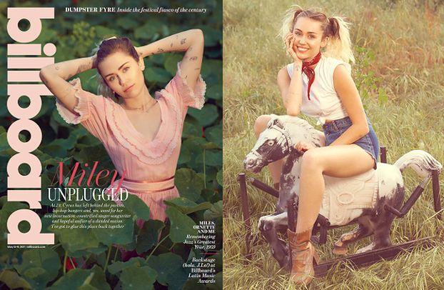 """Miley Cyrus w stylizacjach """"na wiejską dziewczynę"""""""