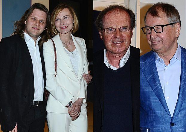 Piotr Woźniak-Starak z rodzicami i Fibakiem na wystawie (ZDJĘCIA)