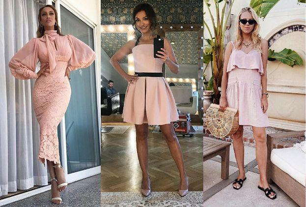 Sukienki w kolorze pudrowego różu – jak noszą je gwiazdy?