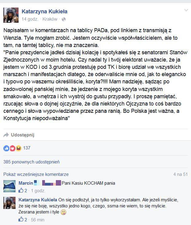 Właścicielka Restauracji Do Andrzeja Dudy Mam Nadzieję że