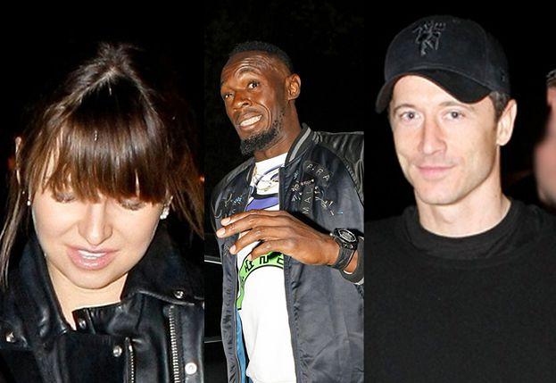 Robert Lewandowski imprezuje z żoną i Usainem Boltem! (FOTO)