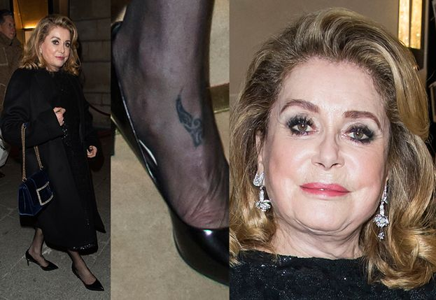 75-letnia Catherine Deneuve pozuje z tatuażem na stopie (FOTO)