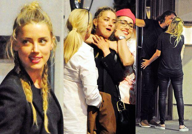Zadowolona Amber Heard imprezuje z Margot Robbie i Carą Delevingne w Londynie (ZDJĘCIA)
