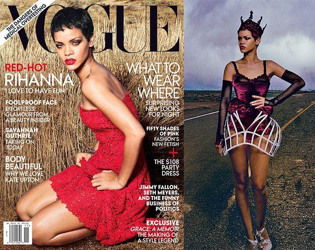 """Rihanna w sianie na okładce """"Vogue'a""""! (FOTO)"""