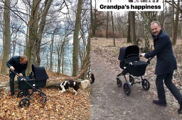 """Donald Tusk chwali się zdjęciem z dzieckiem córki. """"Szczęście dziadka"""" (FOTO)"""