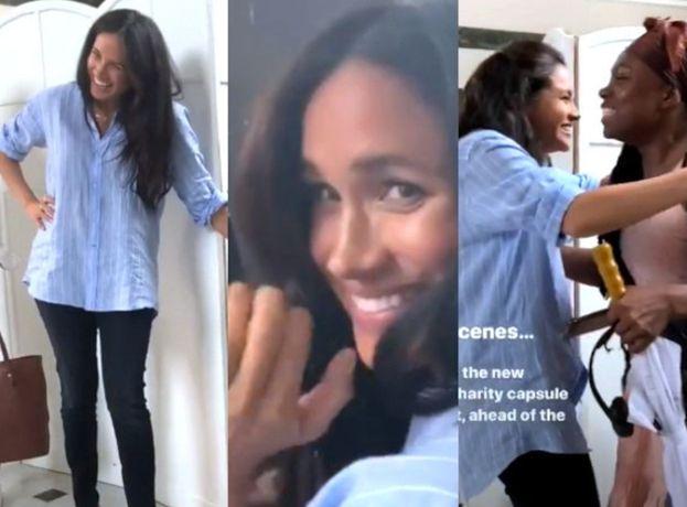 Meghan Markle pokazała kulisy sesji zdjęciowej swojej pierwszej kolekcji ubrań (ZDJĘCIA)