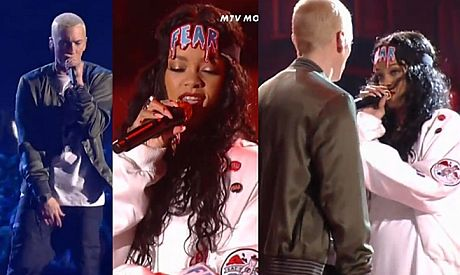"Rihanna i Eminem śpiewają ""Monster"" na MTV Movie Awards!"