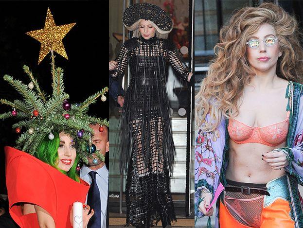 Lady Gaga Z CHOINKĄ NA GŁOWIE... (ZDJĘCIA)
