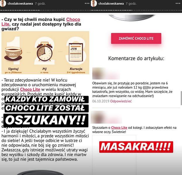 """Oburzona Chodakowska żali się na Instagramie: """"Ktoś wykorzystuje mój wizerunek i SPRZEDAJE JAKIEŚ G*WNO"""""""