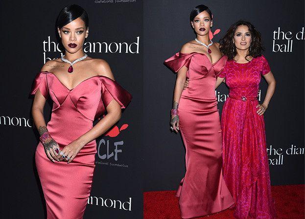 Rihanna z Salmą Hayek i... rubinem za 2 miliony dolarów! (ZDJĘCIA)