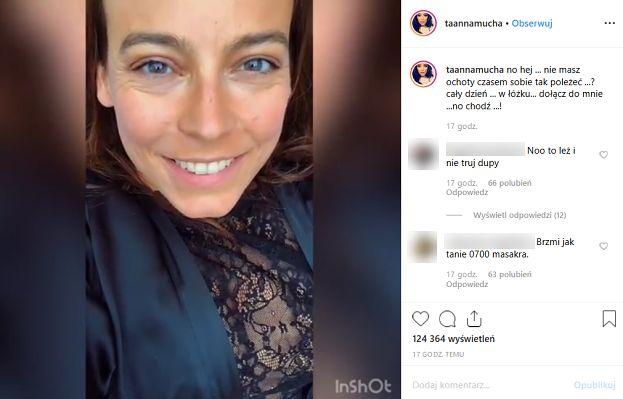 """Anna Mucha opublikowała dwuznaczne nagranie. Fani zniesmaczeni: """"Brzmi jak tanie 0-700, masakra"""""""