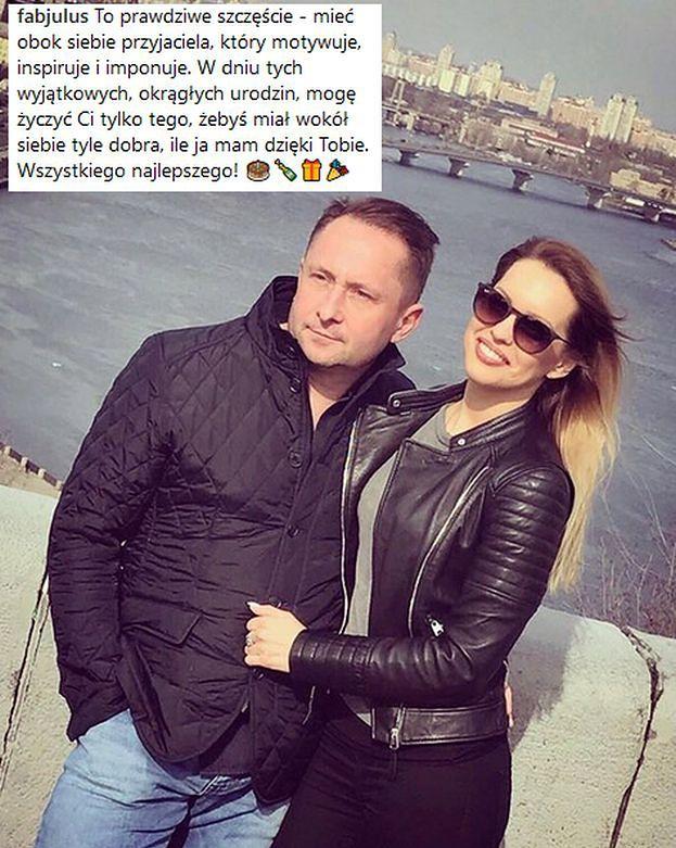 Narzeczona Durczoka składa mu życzenia urodzinowe na Instagramie. Słodko?