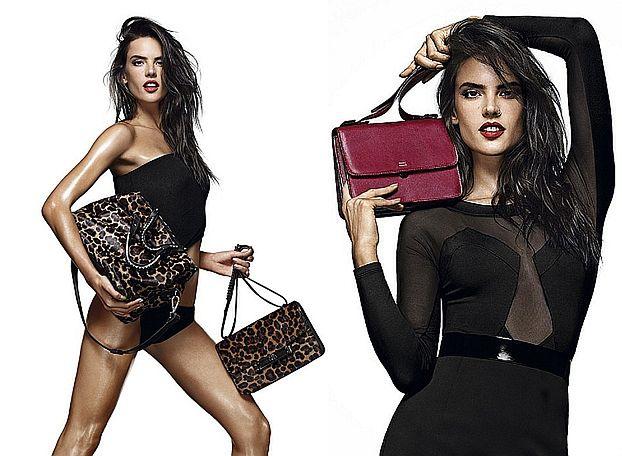 Seksowna Alessandra Ambrossio pozuje z torebkami!