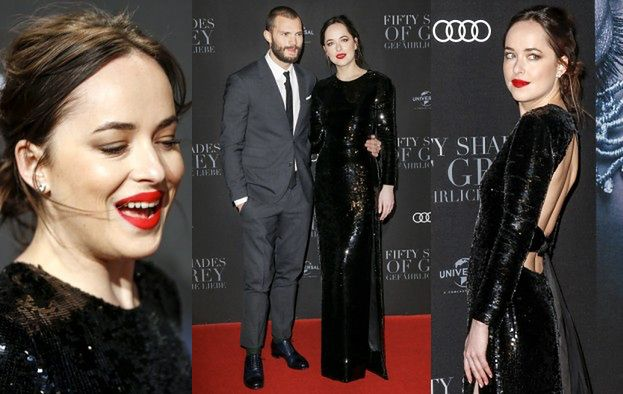 """Dakota Johnson i Jamie Dornan promują """"Ciemniejszą stronę Greya"""" w Hamburgu (ZDJĘCIA)"""