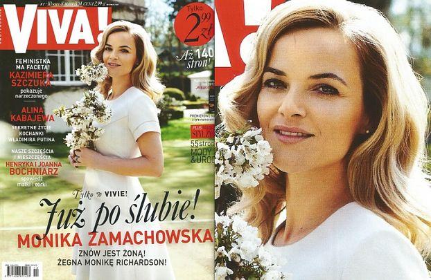 """Monika """"Zamachowska"""" już na okładce """"Vivy""""! BEZ ZBYSZKA... (FOTO)"""