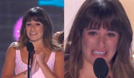 Lea Michele dedykuje nagrodę Cory'emu!