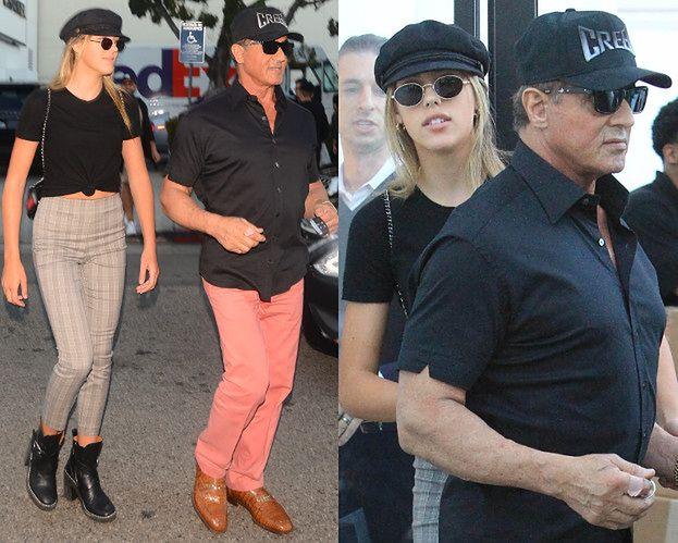 72-letni Sylvester Stallone pręży klatę na świątecznych zakupach z córką