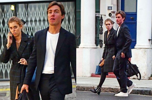 Ksieżniczka Beatrycze z narzeczonym wychodzą ze SPA w Londynie (ZDJĘCIA)
