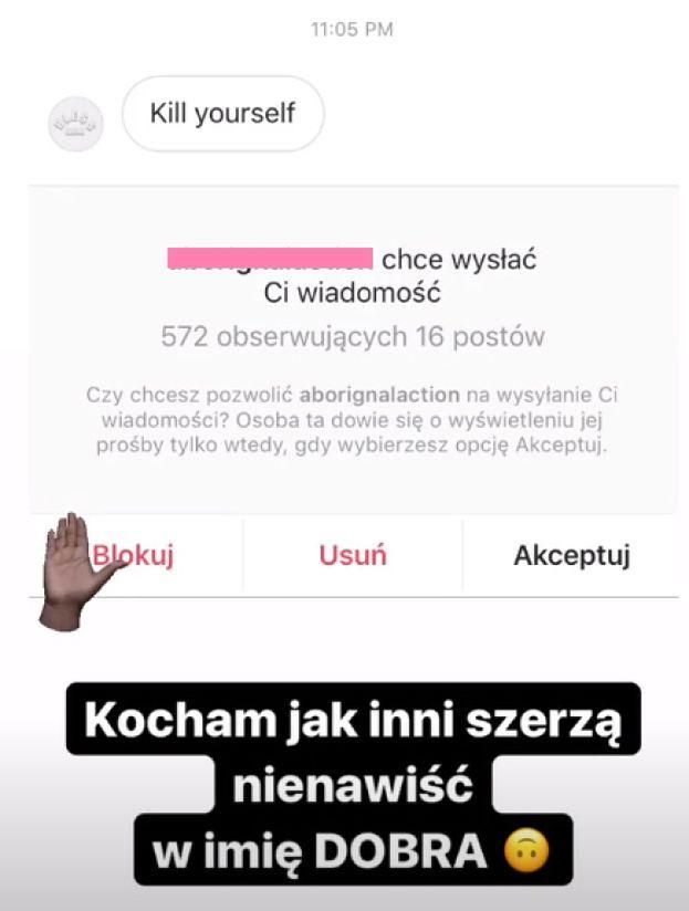 """Ewelina Lisowska skarży się na Instagramie: """"Ludzie wyzywają mnie od RASISTOWSKICH ŚWIŃ!"""""""