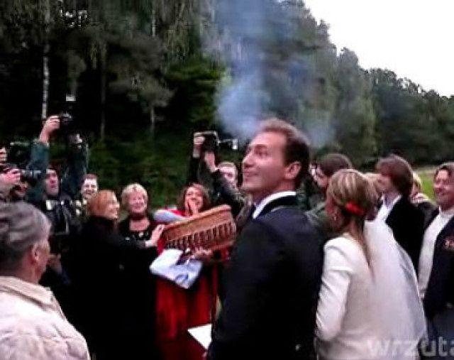 Ekskluzywne wideo ze ślubu Piotra Kraśki
