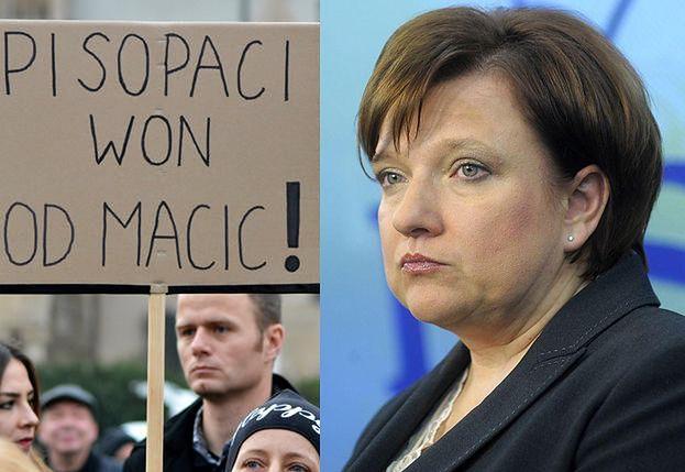 """Beata Kempa twierdzi, że Czarny Protest to """"manipulacja"""" i... zemsta opozycji: """"Nie przeżyli tego, że przegrali wybory"""""""