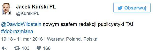 Dawid Wildstein został nowym szefem redakcji publicystyki w TVP!