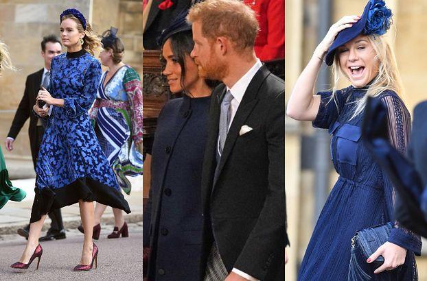 Na ślub Eugenii przyszły dwie byłe księcia Harry'ego! Wszystkie wybrały ten sam kolor sukienki... (ZDJĘCIA)