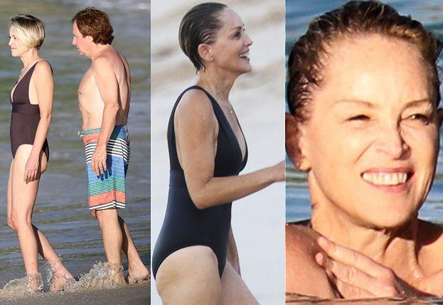 Sharon Stone na plaży z nowym kochankiem! (ZDJĘCIA)
