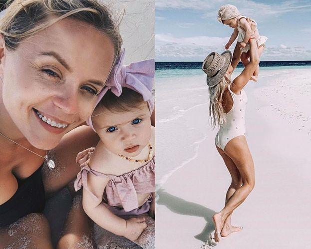 """Anna Skura o podróżach z 10-miesięczną córką: """"Melody ma już za sobą 28 lotów i była na CZTERECH KONTYNENTACH"""""""