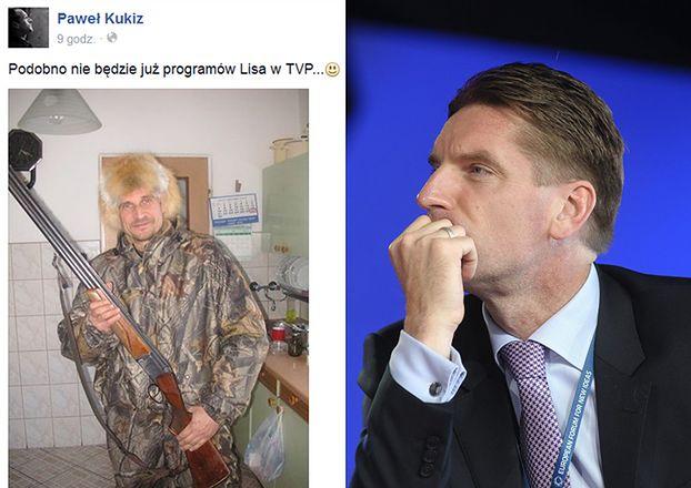 Paweł Kukiz ze strzelbą i... w czapce z lisa (FOTO)