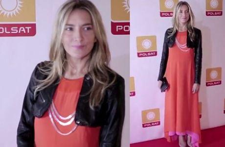 Baar w pomarańczowej sukni na prezentacji ramówki Polsatu!