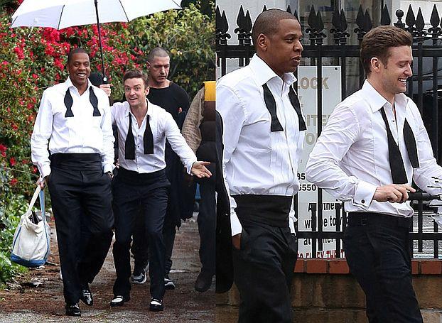 Justin i Jay-Z kręcą teledysk! (ZDJĘCIA)