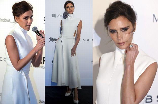 Victoria w białej sukience na charytatywnej gali (ZDJĘCIA)
