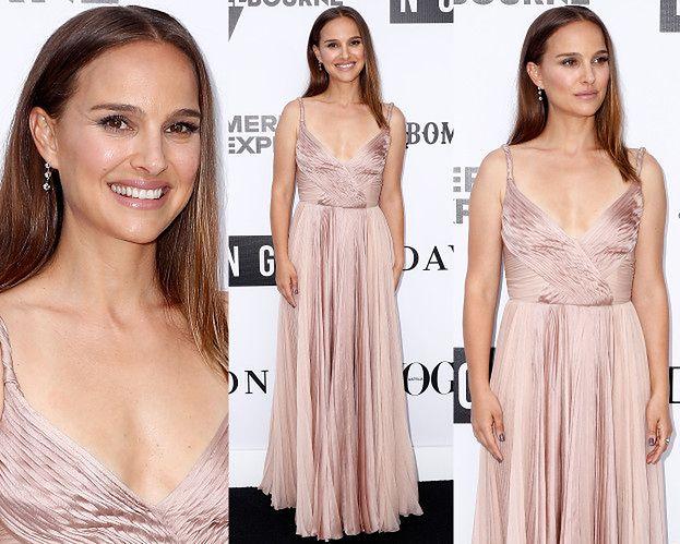 Naturalna Natalie Portman zachwyca w pudrowej sukni od Diora