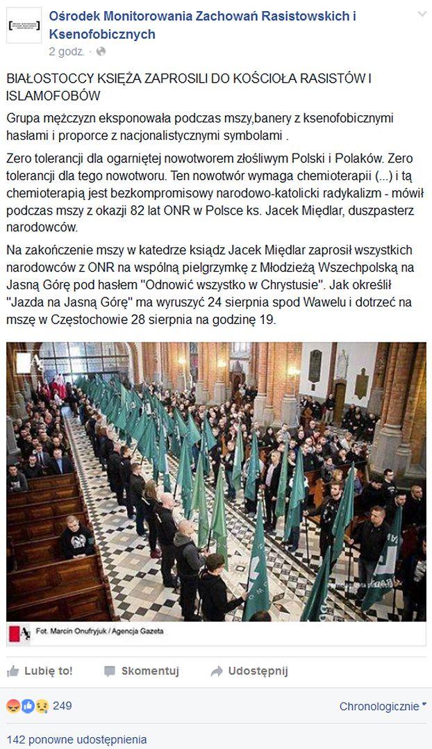 """Episkopat: """"Nacjonalizm stanowi antytezę prawdziwego patriotyzmu""""! """"Wiadomości"""" TVP... ocenzurowały biskupów!"""