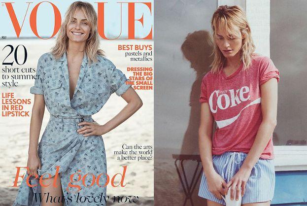 "Amber Valletta bez stanika w brytyjskim ""Vogue'u"""