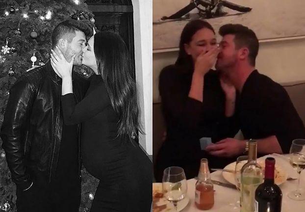 Robin Thicke zaręczył się w Wigilię z 23-letnią matką swojego dziecka (FOTO)