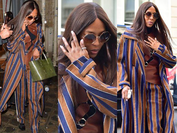 Ikona wybiegu Naomi Campbell wydzwania do kochanka, opuszczając francuski hotel