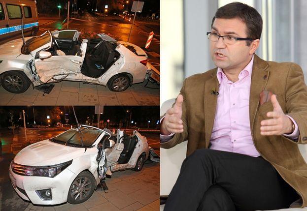 Poseł Girzyński miał wypadek! (ZDJĘCIA)
