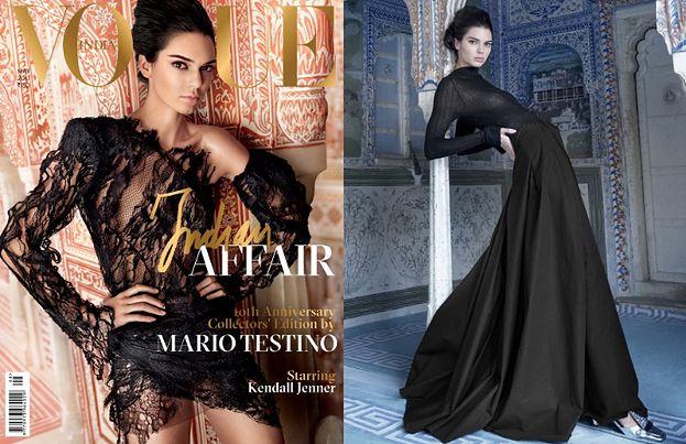 """Dziwne pozy Kendall Jenner w indyjskim """"Vogue'u""""..."""