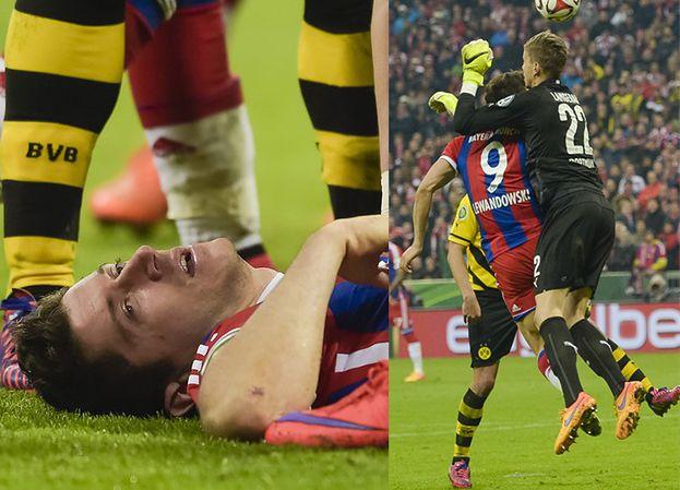 Lewandowski trafił do szpitala! Ma pękniętą kość twarzy!